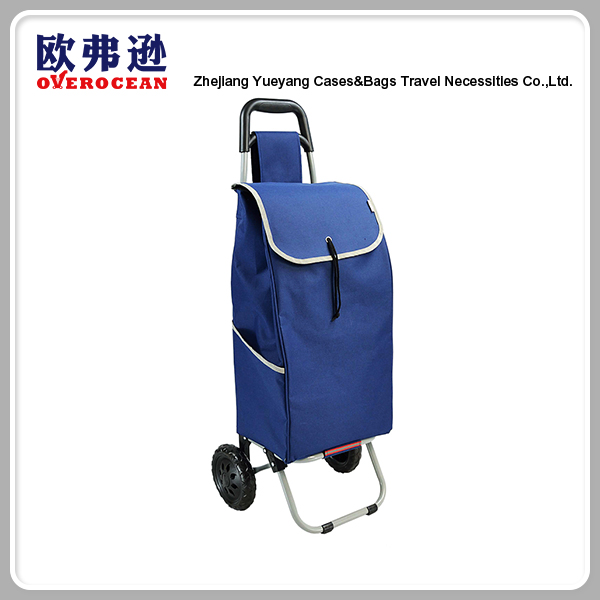 High Quality Newly Foldable Polyester Shopping Trolley Bag With Weel