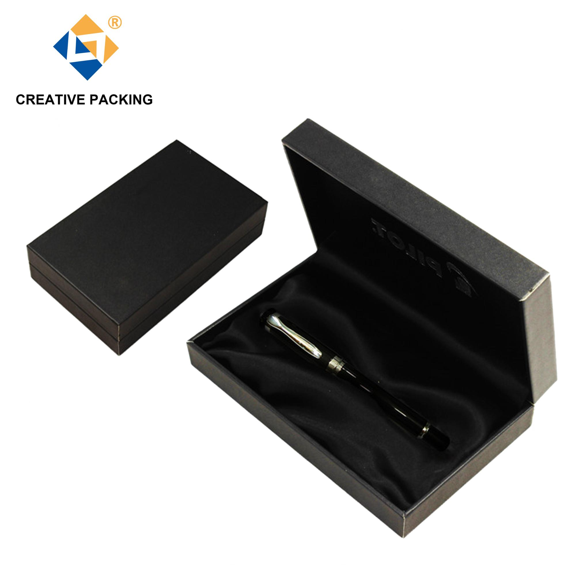 Luxury Faux Leather Cover Mens Plastic Ball Pen With Box