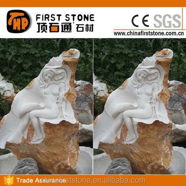 MGP269 Natural Stone Nude Girl Statue