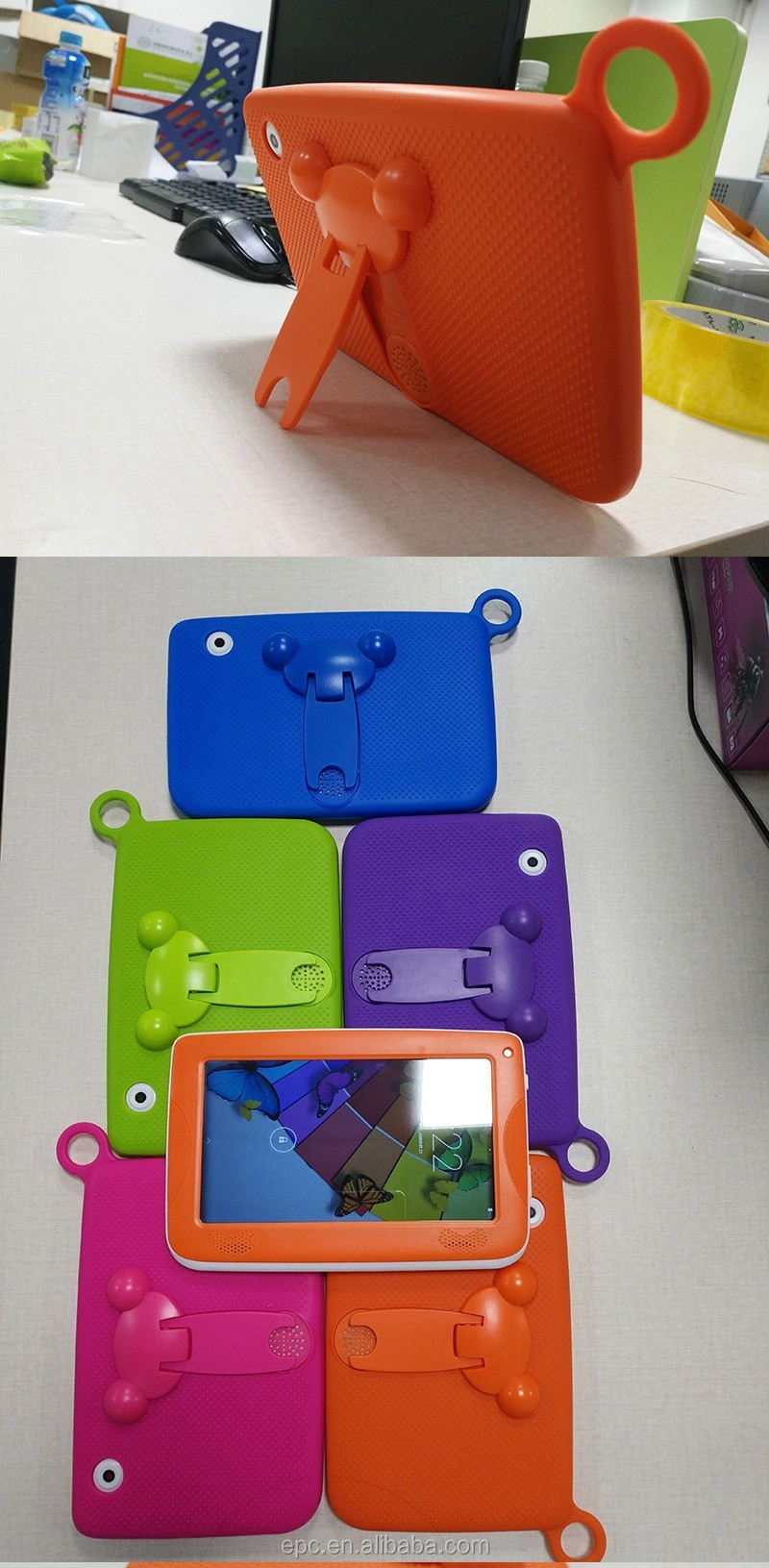 Cute Super slim Quad core Aliexpress Kids tablet pc