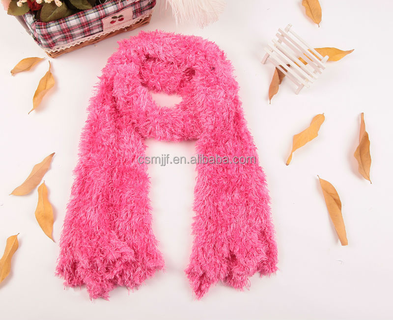 Fashion Rose Color Women's Winter Long Warm Stretchy Microfiber Magic Scarf Wrap Shawl Ladies Scarves