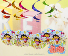 It's Dora Hanging Swirl Ceiling Decoration Kids Party Decorations