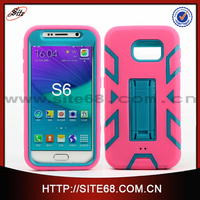 Hybrid armor protective tpu case+pc hard cover for samsung galaxy s6 mobile phone