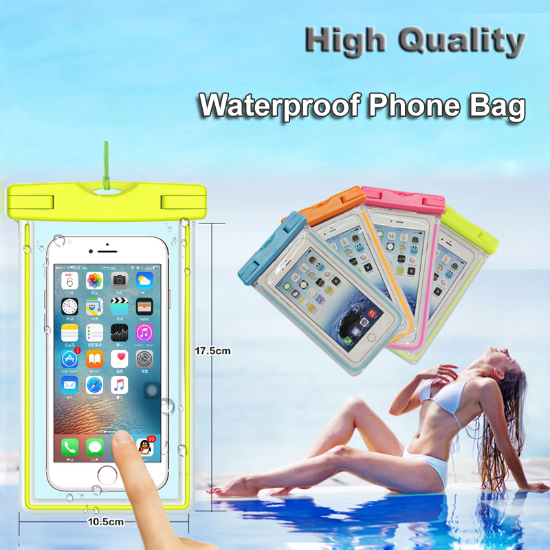 2017 Super attractive PVC universal mobile phone waterproof bag for samsung note 5
