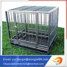 wholesale Large outdoor Chain link Dog run kennel with top cover