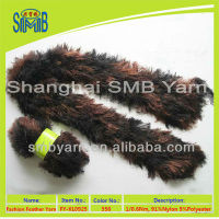 fancy hand knitted nylon feather scarf fancy faux fur yarn knitting scarf fashion feather shawl