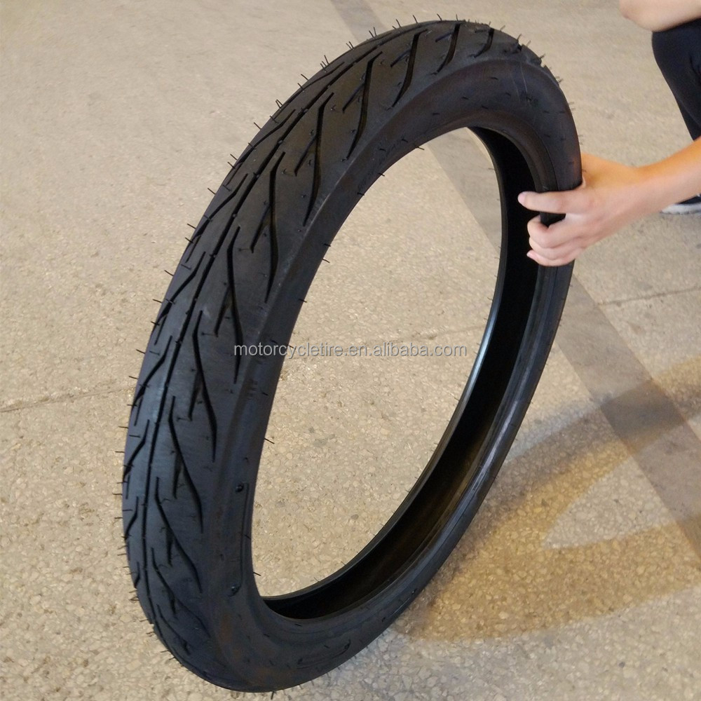 Qingdao manufacturer indonesia market tubeless solid rubber motorcycle tire 275-18