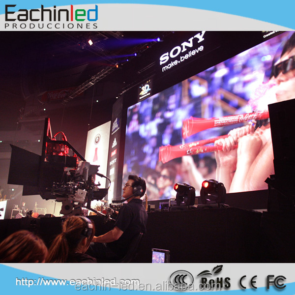 Die-casting Aluminum P4 indoor led screen stage background led display big screen