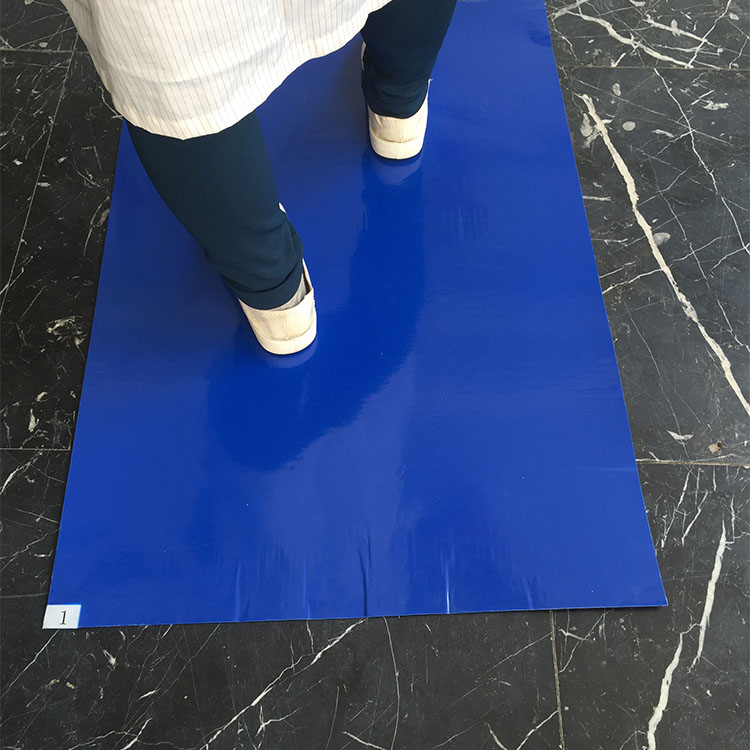 Manufacturer Dust Control Hospital Floor Disposable Peel Off Blue Clean Room Sticky Mat