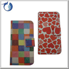 Custoom Design PU leather stand case cover for samsung galaxy s4 mini i9190