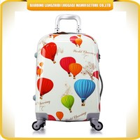 Women Airport travel luggage bags small size 3D cartoon trolley bags