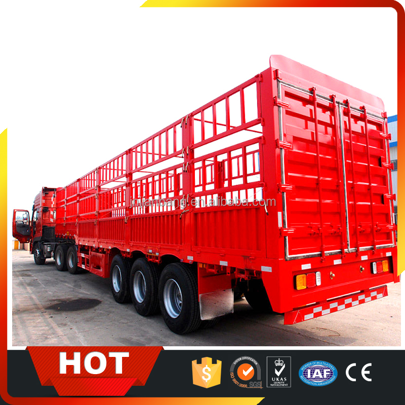 60ton cheap utility cargo trailer fence grain food trailer for animals transport
