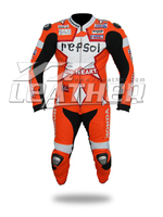 Made in Pakistan leather racing suit, cowhide leather motorcycle suit