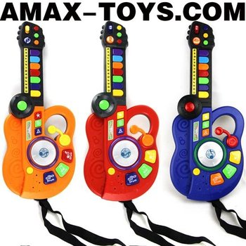 bte-209778 cartoon toys instrument Multifunctional cartoon toys guitar and electronic organ set (3 in 1)