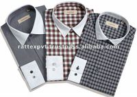 Cotton/polyster Dress Shirt For men with pointed collar