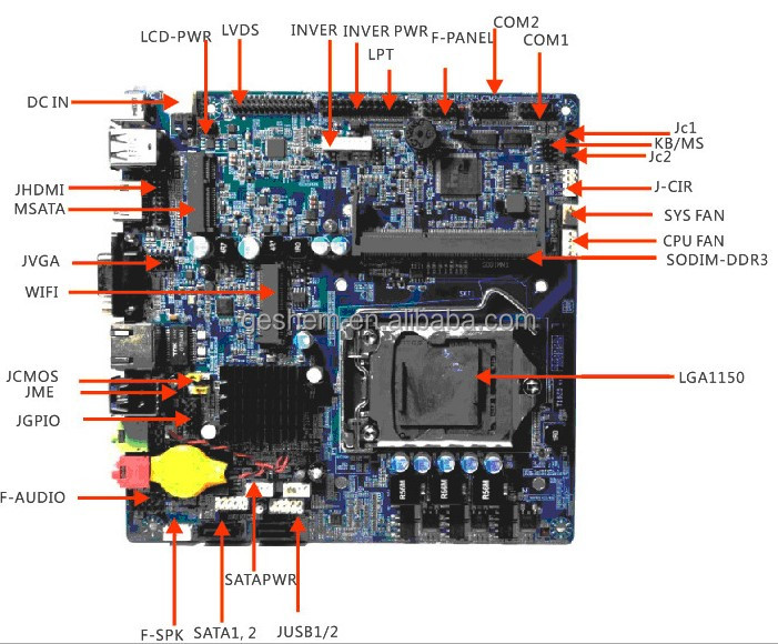 hot sale H81 Motherboard Stock Available x86 single board computer mini itx motherboard fanless industrial motherboard