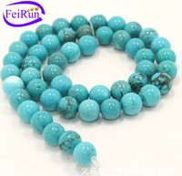 6 8 10 12 mm natural Xinjiang loose blue turquoise strand semi gemstone beads