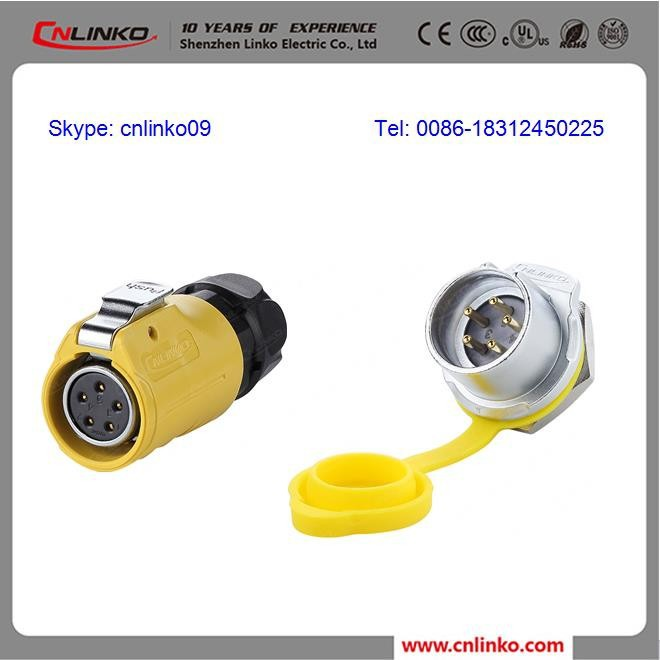 Low Voltage Electronic Manufacturing Supplied 5 Pin Male & Female Joint Plastic Pole Connector