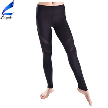 Running Leggings Sexy Jogging Pants with Mesh Design