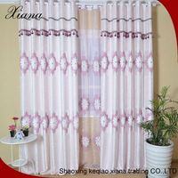 flower elegant sheer embroidery bedroom curtain styles
