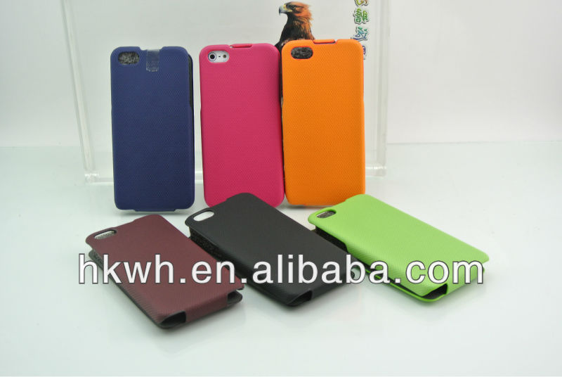 Crocodile corrugated leather case for iphone 4 4s case belt clip