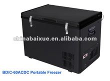60L ACDC outdoor solar potable mobile car freezer/camping freezer/RV freezer Freezer & Fridge