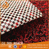 Fashion hot sale colorful pvc carpet coil mat with net backing in roll