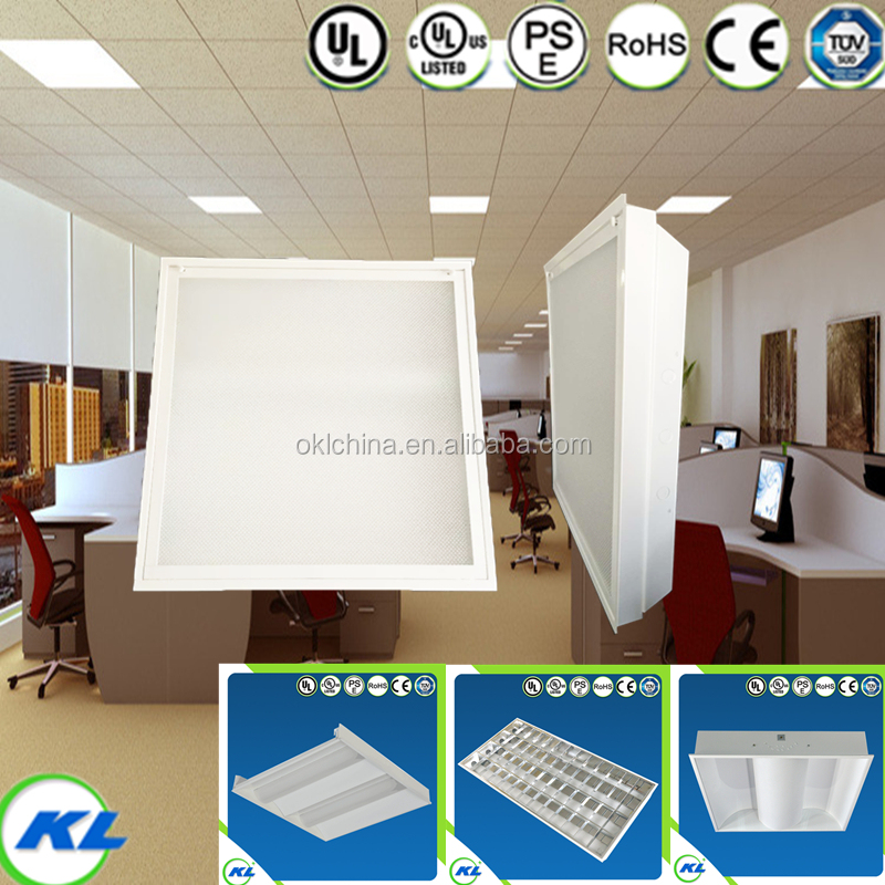 UL,CE,RoHS 2x2 Recessed office light fixture 18W LED panel t5 fitting