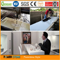 Promotion Customized Pure White Quartz Bar Countertop