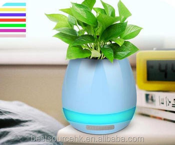 Creative Pots Smart Touch Plant Piano with Bluetooth Speaker LED music flower pot Romantic