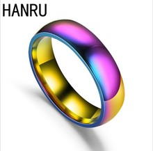 Factory Express Cheap Wholesale O Ring Rainbow Stainless Steel Turkish Man Ring