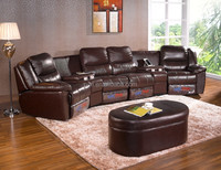 bonded leather theater seating power motion reclining sectional sofa set