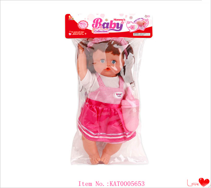 Wholesale Children's Educational Toys 13 Inch Reborn Soft Silicone Toys Lovely Baby Doll
