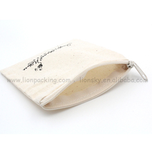Plain recycling ring packing cotton bag with zipper