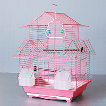 Low Price Beautiful Indoor Foldable Iron Made Bird Cage Materials