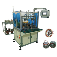 Double working station wheel motor automatic stator coil winding machine
