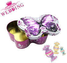 Heart Shape Printed Tin Gift Box/gift Can For Wedding Candy
