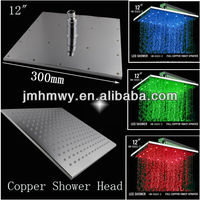 12 inch square wall mounted led shower rain shower head