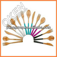 Colourful Bamboo Kitchen Utensil sets