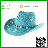 Trade Assurance Custom Made cowboy hats Fashion Floppy Derby Hat wholesale straw hats