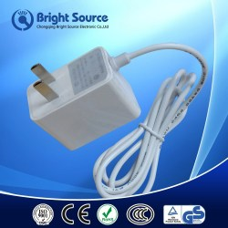 AU UK US EU dc output adapter,24 volt ac power supply,male crimp pin connector wire size 22 awg