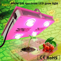 Wholesales price, for greenhouse&horticulture, integrated LED chip 150w*4pcs dimmable 600w plant grow led light