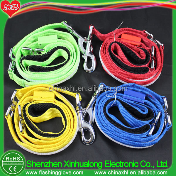 Waterproof pet products LED dog collar leash