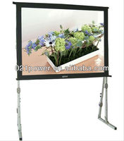 "72""~300"" fast fold led Projector screen with front and rear material"