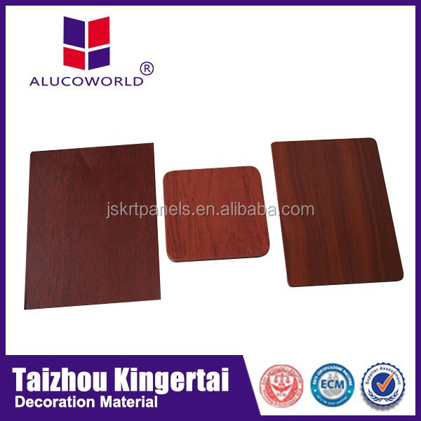 Alucoworld China supplier excellent anti-septic PVDF/PE coated granite and wooden aluminum composite panel