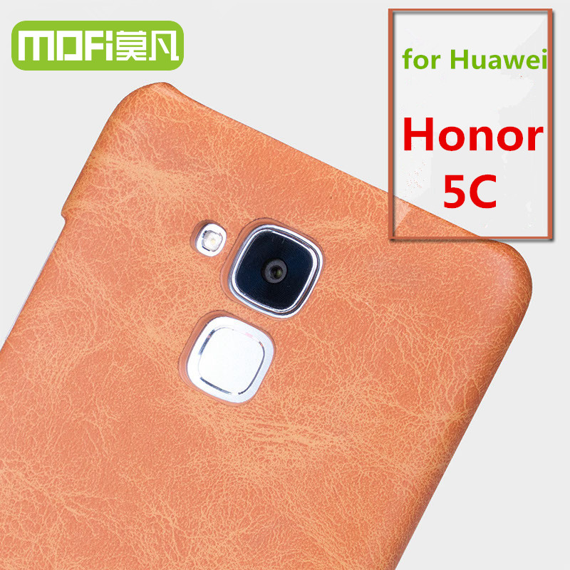 MOFi Original Phone Accessories PU Leather Housing for Huawei Honor 5C, Celulares Cell Coque Hard Back Cover Case for Honor 5C
