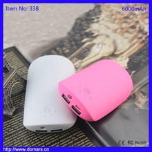 6000mAh Power Bank 2 USB External Universal Battery Charger funny Cartoon thin