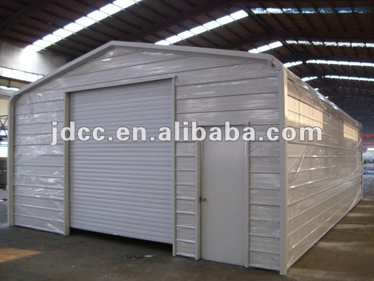 Galvanised steel sheds