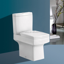 Henan factory ceramic water saving efficient sanitary ware two piece wc toilets bowls