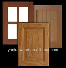 high quality kitchen cabinet solid wood / frosted glass door